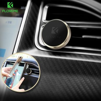 FLOVEME Universal Car Phone Holder Magnetic Air Vent Mount Magnet Smartphone Dock Mobile Phone Holder For iPhone Samsung Xiaomi