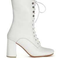 Maryan Nassir Zadeh - White Calf Emanuelle Lace Up Boot | BONA DRAG