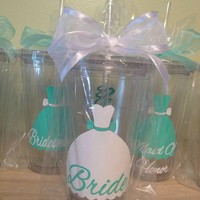 Bridal Party Tumbler Cups