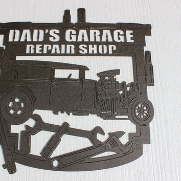 Dads Garage Sign Shop Garage Decor Metal Wall Art