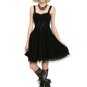 The Nightmare Before Christmas Flocked Dress
