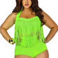 Monif C. - Plus Size Trendy Swimsuits, Sexy Plus Size Swimwear, Plus Size High Waisted Bikini - Monif C