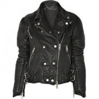Burberry Prorsum Losely Quilted Leather Biker Jacket as seen on Kim Kardashian