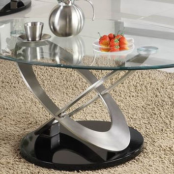He-3401-30 Firth Collection Cocktail Table, Metal Base