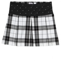 Quilted Pleather Plaid Skirt