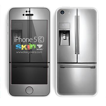 The Silver Fridge Skin For The iPhone 5c