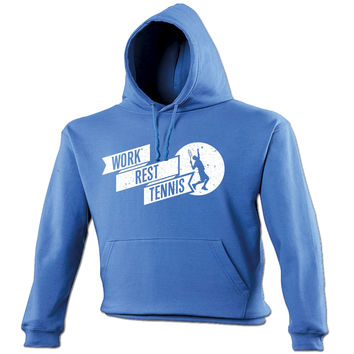 123t USA Work Rest Tennis Funny Hoodie