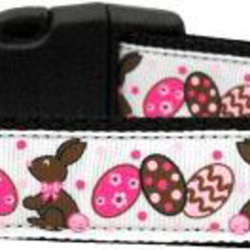 Chocolate Bunnies Dog Collar Medium
