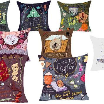 Harry Potter Linen Pillow Case Cover