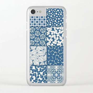 Tile Patchwork Clear iPhone Case by Eileen Paulino