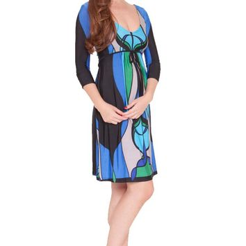 Olian Allison Ballet Sleeve V Neck Maternity Dress