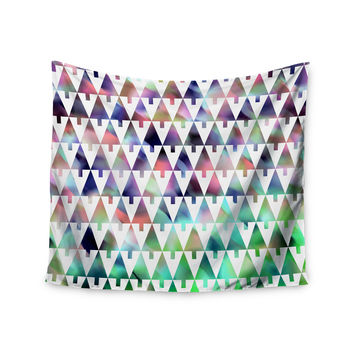 "Gabriela Fuente ""X-Mas Party"" Pastel Geometric Wall Tapestry"