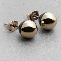 & Other Stories   Globe Stud Earrings   Gold
