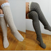Knee Socks, Over the knee socks by Beatifico - Craftsy