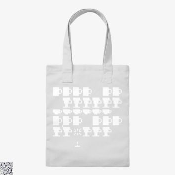 Coffee Invaders, Coffee Lover's Tote Bag