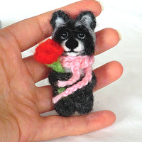 Needle felted brooch Brooch raccoon Brooch felted Brooches and pins Handmade brooch Felt products Felt brooches Felt animals