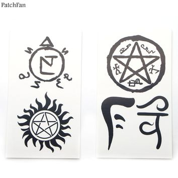 50pcs/set Patchfan Supernatural Temporary Body Art Tattoo Sticker for Women Men cosplay Makeup Shoulder Arm dropshipping A1166