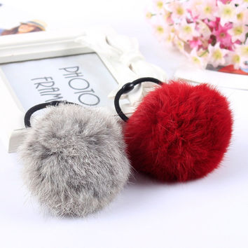 TS South Korea Angora Artificial Rabbit Ball Hair Bands Hair Ball of Fur Hair Rope Band Hair Accessory Rubber Band
