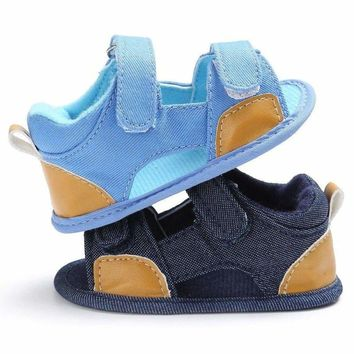 Summer Baby Boy Girl Sandals Infant Toddler Kids Soft Sole Crib Shoes Prewalkers