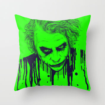 The Joker Throw Pillow by Nicebleed