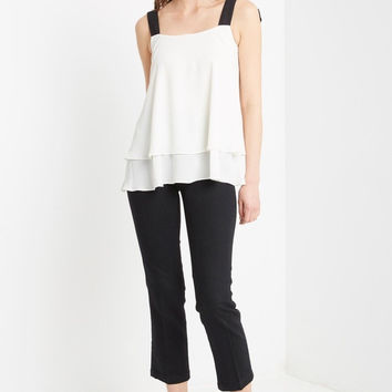 Isabelle Chiffon Bow Back Top