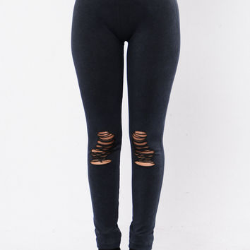 Take Your Mind Off Leggings - Indigo