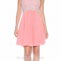 Coral Empire Irridescent Prom Dresses By Decode 1.8