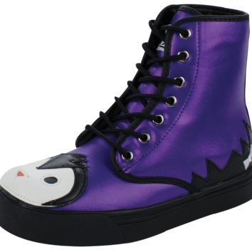Purple sparkle penguin boot - T.U.K. Shoes