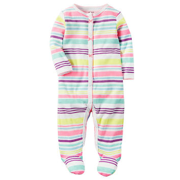 Carter's Girl Multi Stripe Footed Sleep-N-Play - JCPenney