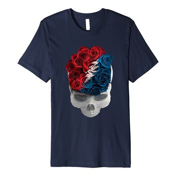 Grateful Dead Rose Skull Long Strange Trip T-Shirt