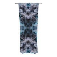 "Akwaflorell ""Abyss"" Blue Black Decorative Sheer Curtain"