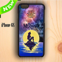 Dream colorful Ariel The Little Mermaid In Galaxy iPhone 6S Case