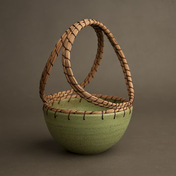 Basket by Hannie Goldgewicht (Ceramic Basket) | Artful Home