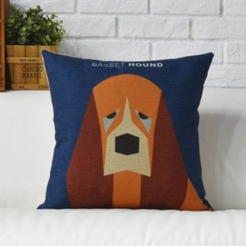 Basset Hound Dog Cushion