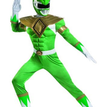 Disguise Sabans Mighty Morphin Power Rangers Green Ranger Classic Muscle Cost...