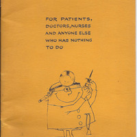 Funny Hospital Coloring Book, Get Well Card for Adults, 1971 Humor Great gift easy to mail