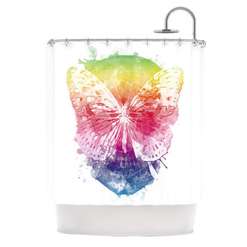 "Frederic Levy-Hadida ""Butterfly Skull"" Shower Curtain, 69"" x 70"" - Outlet Item"