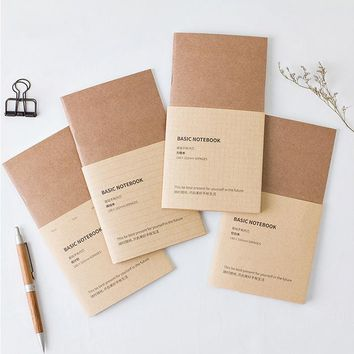 Muji Style New Vintage Traveler's Notebook Kraft Refilll Replace Inner Page DIY Journal Notepads 4 Different Pages Planner Book