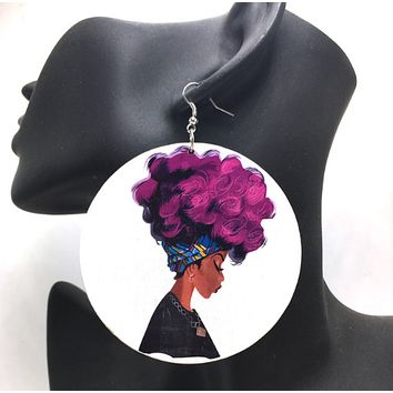 ColorFro Headwrap Earrings | Natural hair earrings | Afrocentric earrings | jewelry | accessories