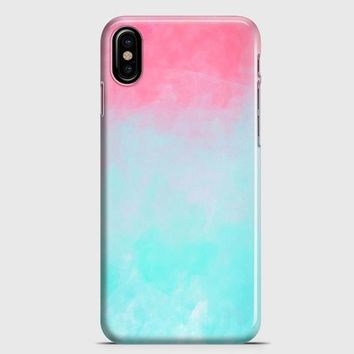 Ombre Pink And Blue iPhone X Case