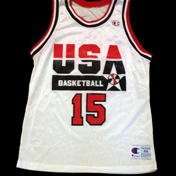 Vintage Jersey, Basketball Jersey, Magic Johnson Jersey, USA Olympics, Champion Jersey, Size Large