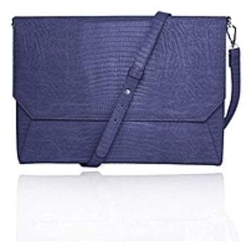 Francine Collection Lenox Carrying Case (Sleeve) for 11 Tablet - eReader, Notebook - Blue - Faux Leather