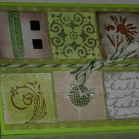 Handmade Green and Brown Patchwork Card - One of a Kind Rustic Twist | foreversmemories - Cards on ArtFire