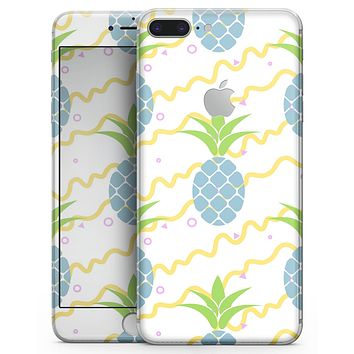 Retro Blue Pineapples - Skin-kit for the iPhone 8 or 8 Plus