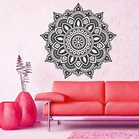 Mandala Wall Decal Vinyl Sticker Decals Lotus Flower Yoga Namaste Indian Ornament Moroccan Pattern Om Home Decor Bedroom Art Design Interior NS300
