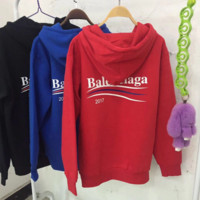 Balenciaga Hot Sale Fashion Casual Long Sleeve Pullover Hoodie Sweater