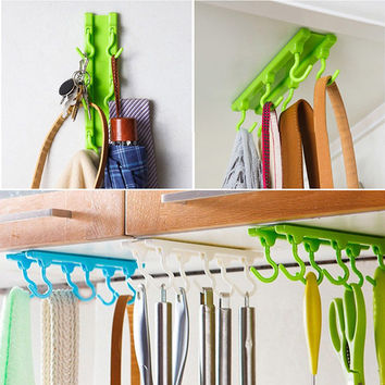 Kitchen Utensils Rack Holder Hook Ceiling Wall Cabinet Hanging Storage Organizer