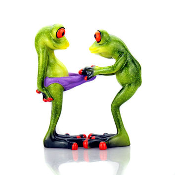 NEW Frogs Figurine Sexy Modern Resin Home Sculpture Dolls Resin Model Odd Gifts Crafts Animal Ornaments Home Decoration