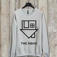 the neighbourhood logo Music tee Ash Grey  Long Sleeve Crew Neck Pullover Sweatshirt