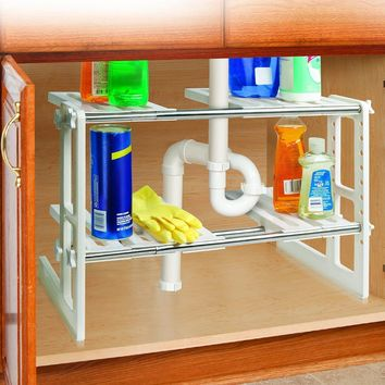 Under Sink Organizing Shelves